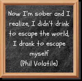 I drank to escape myself