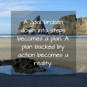 A goal broken into steps is a plan